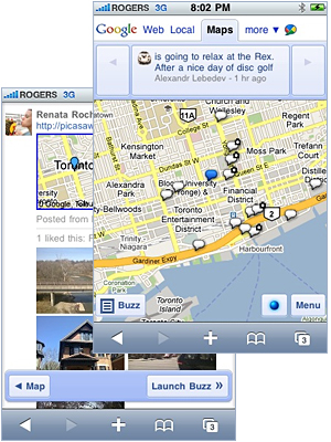 Google apps in Safari mobile browser