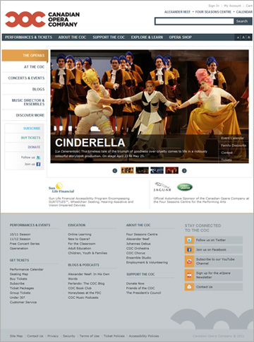 Delvinia-Designed Website Launched by Canadian Opera Company