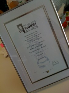 Delvinia's New Webby Award