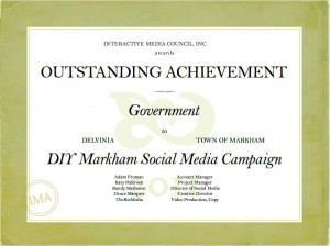 DIY Markham a Winner in 2011 Interactive Media Awards