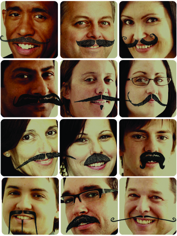 MO'vinians Put Their Mo's Where Their Mouths Are for Movember