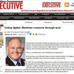 Delvinia in the News: Canadian Government Executive Profiles eDemocracy in Markham