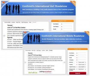 RSVP to Attend Confirmit's Voice of the Customer & Mobile Research Roadshows