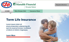 Manulife Financial | CAA Life Insurance � Website Redesign