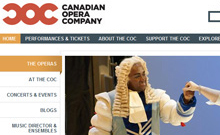 Canadian Opera Company � Website Redesign
