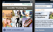 Manulife Financial - CoverMe� Travel Mobile Site and Packing App