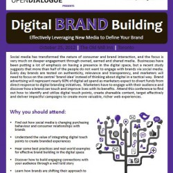 Speaking Engagements: OpenDialogue's Digital Brand Building Conference