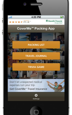 Manulife Financial Enhances Delvinia-Designed Mobile App with New Travel Trivia Game