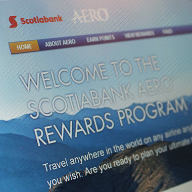 Scotiabank – AERO Rewards Website Redesign