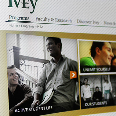 Richard Ivey School of Business – HBA Website Redesign