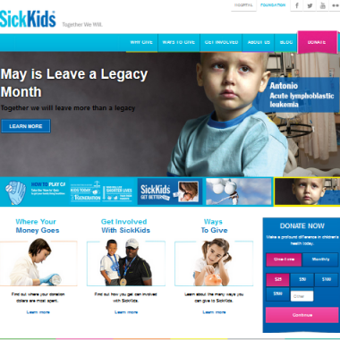 SickKids Foundation Launches Delvinia-Designed Responsive Website