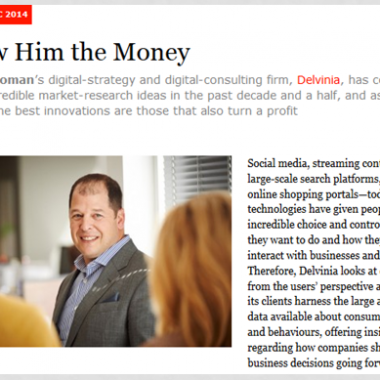 In the News: Advantage magazine profiles Delvinia CEO Adam Froman