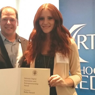 First recipient of the Delvinia Digital Innovation and Entrepreneurship Award chosen at Ryerson