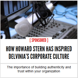 How Howard Stern has inspired Delvinia's corporate culture