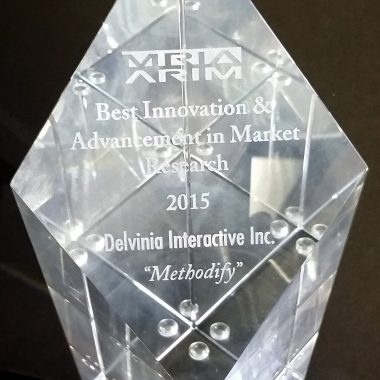 Delvinia wins the MRIA Award for Innovation and Advancement in Marketing Research