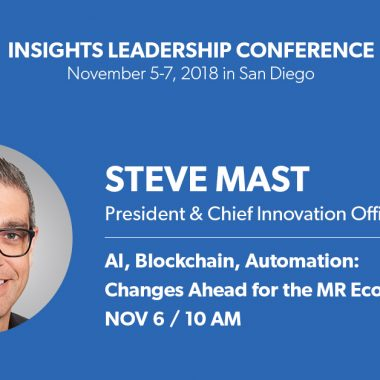 Speaking: Steve Mast talks AI, Blockchain and Automation at the Insights Leadership Conference 2018