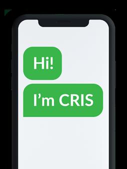 CRIS - AI saying hi on smartphone